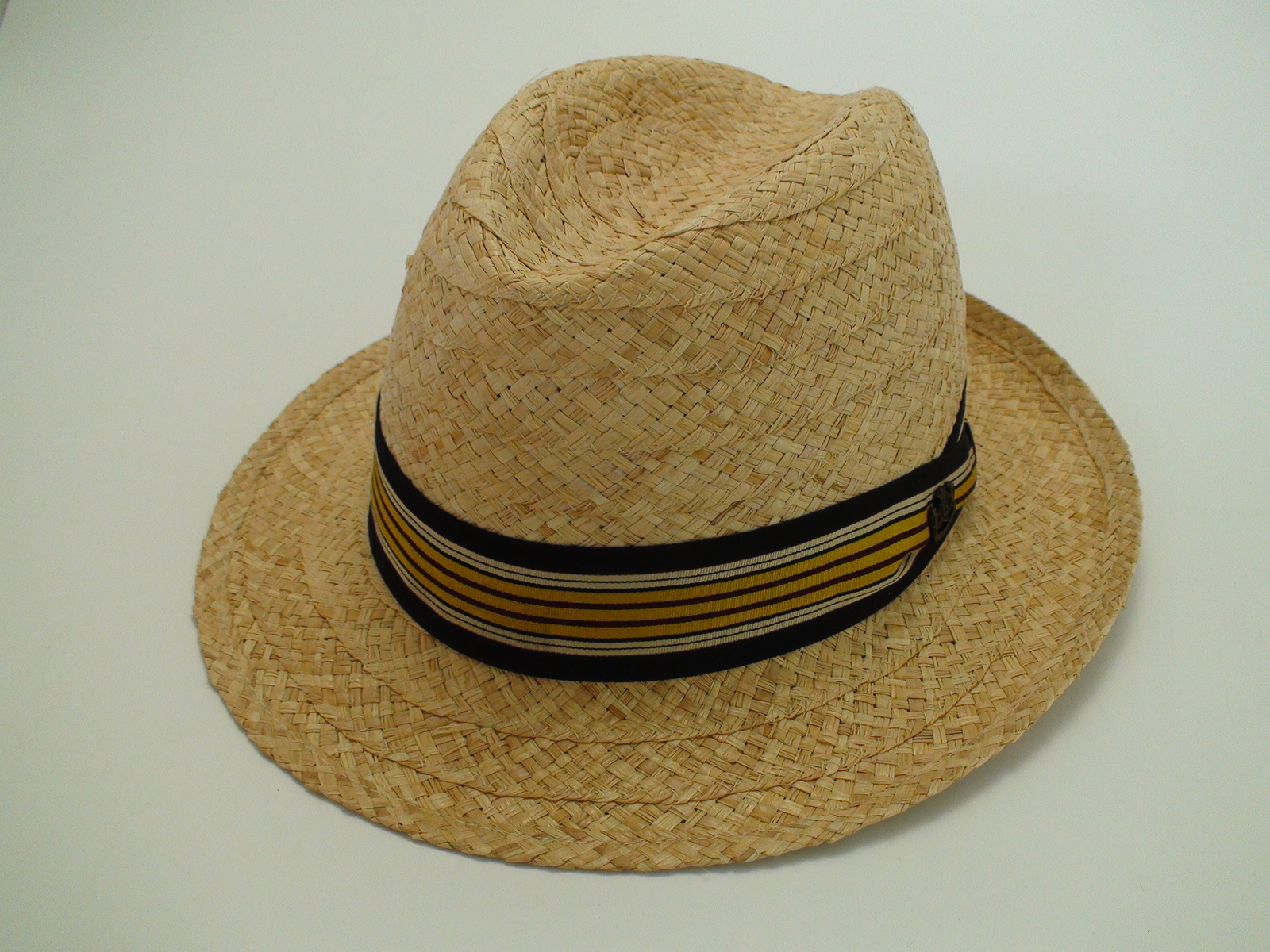 NEW Biltmore Hats Optimo Natural Genuine Raffia Panama Fedora Hat Size XL e703e45b5121