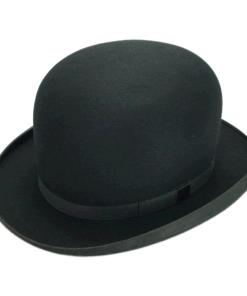 Stetson Excellent Quality Black Fur Felt Bowler Derby Hat