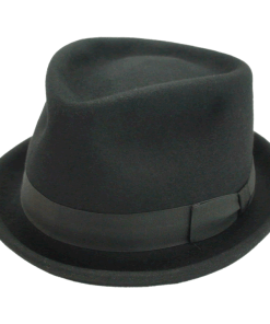 Disney Hats Sir Gay Black Fur Felt Fedora Hat
