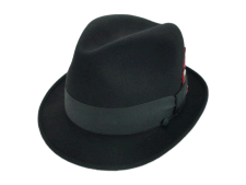 Champ Hats Fedora Kasmir Finish Black Fur Felt Hat