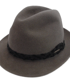 Stetson Royal De Luxe Grey Fur Felt Fedora Hat