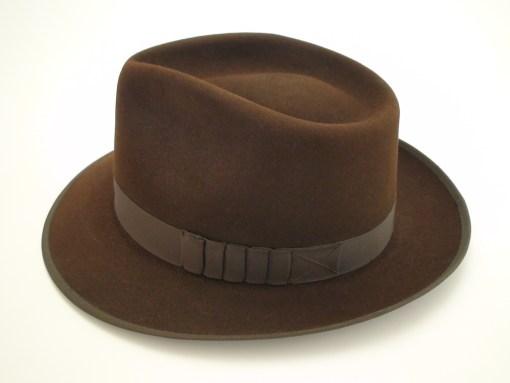 The Pacesetter Custom Made Beaver Fur Felt Fedora Hat