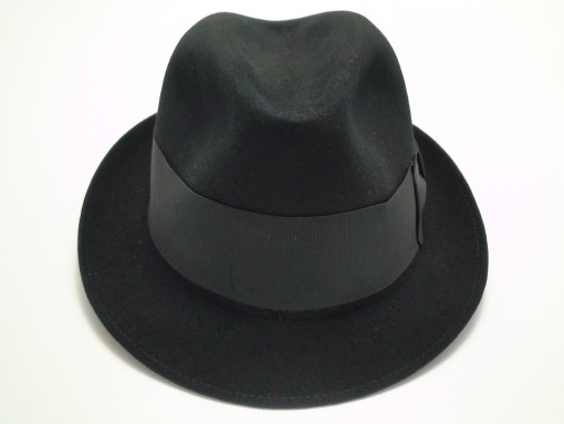 Adam Fifth Avenue Hats Premier Black Fur Felt Fedora Hat