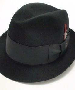Adam Fifth Avenue Hats Premier Black Fur Felt Fedora Hat