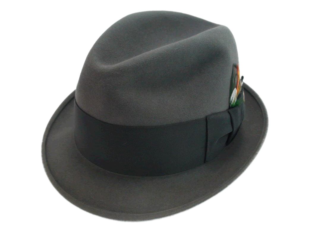 Stetson 3X Beaver Grey Fedora Quality Fur Felt Hat fa964a2e060