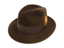 Stetson Sovereign Dega Sage Brown Fur Felt Fedora Hat