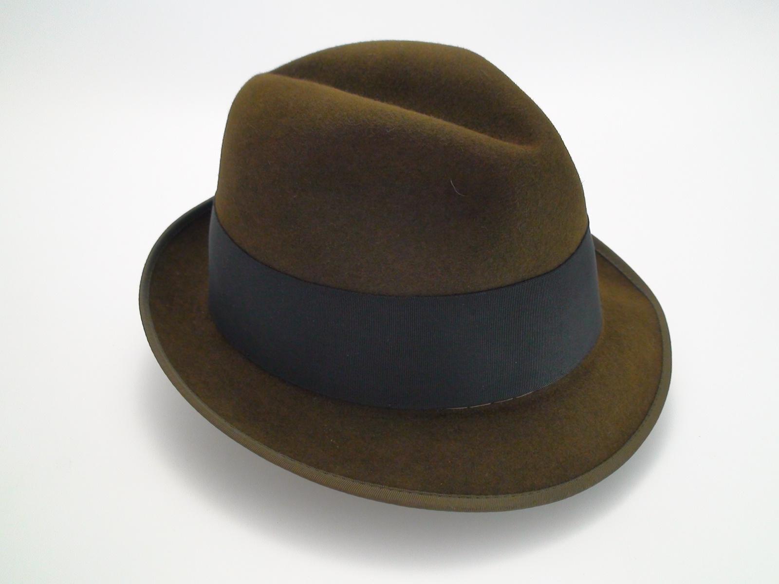 7eb16abac8c Adam Hats Premier Quality Brown Fur Felt Fedora Hat