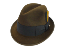 Adam Hats Premier Quality Brown Fur Felt Fedora Hat