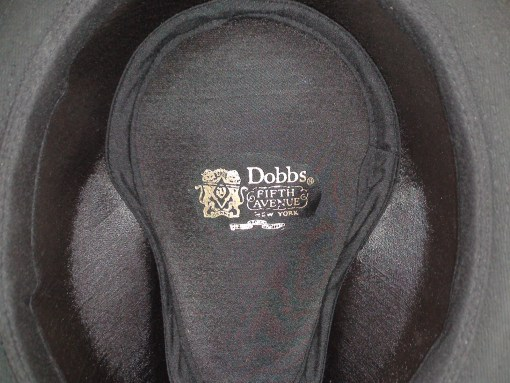 Dobbs Fifth Avenue Andes Black Cotton Rain Outdoor Hat