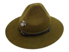 Stetson WWII Campaign Hat 4X Beaver Brown Fur Felt
