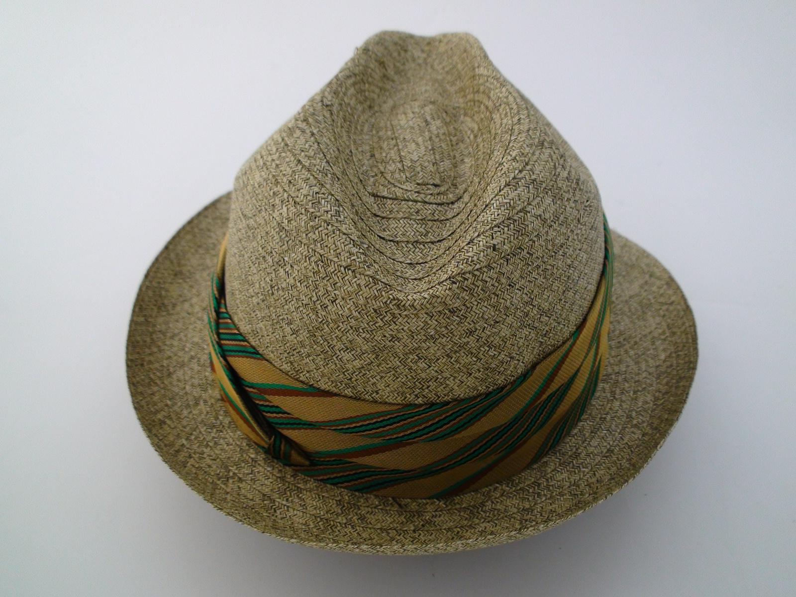 Vintage Biltmore Florino Olive Natural Straw Fedora Hat Size 7 1 8″ 10470fd8c61e