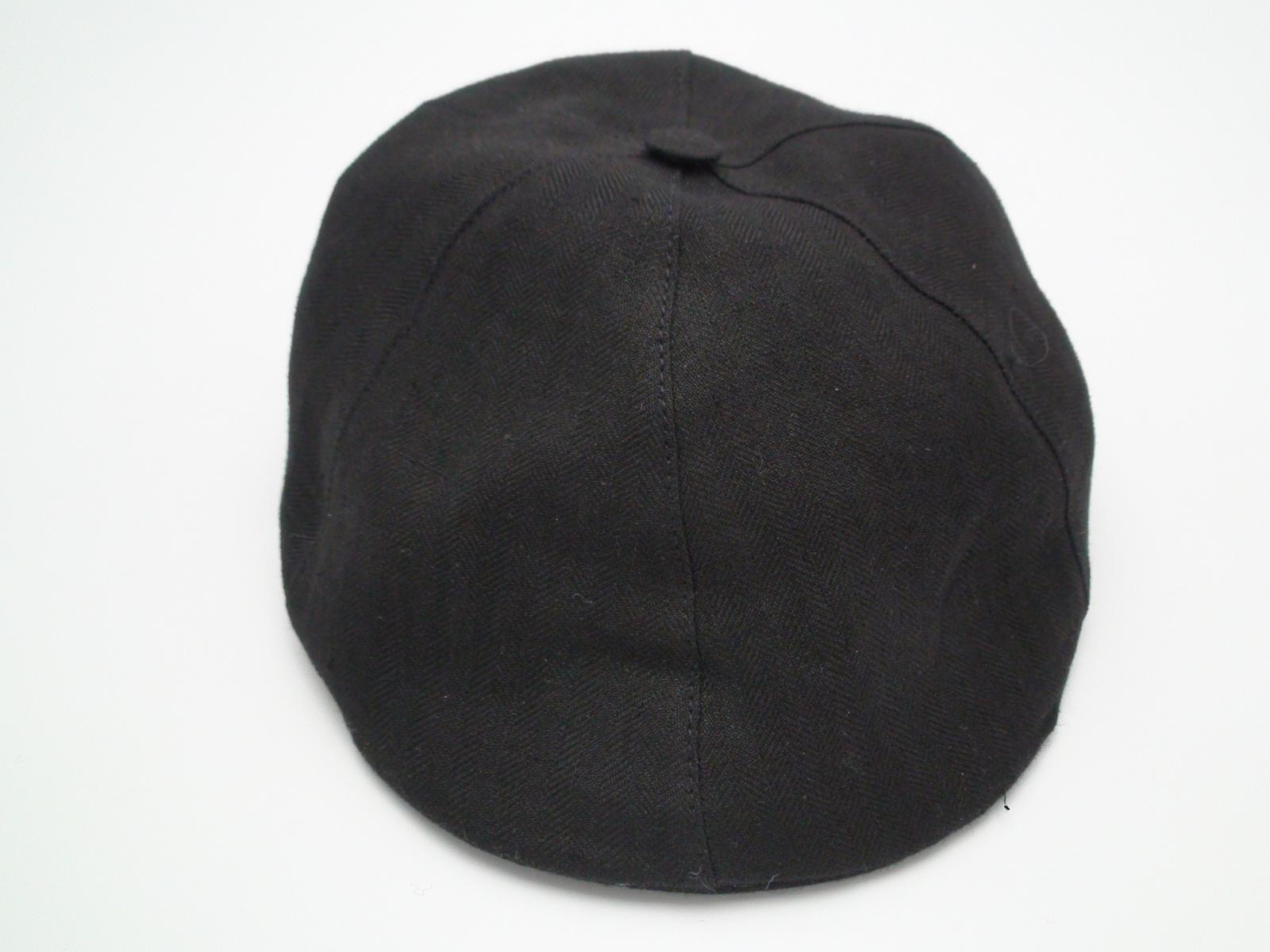 ee783c37dd358 Christys  8 Piece Baker Boy Black 100% Linen Flat Cap