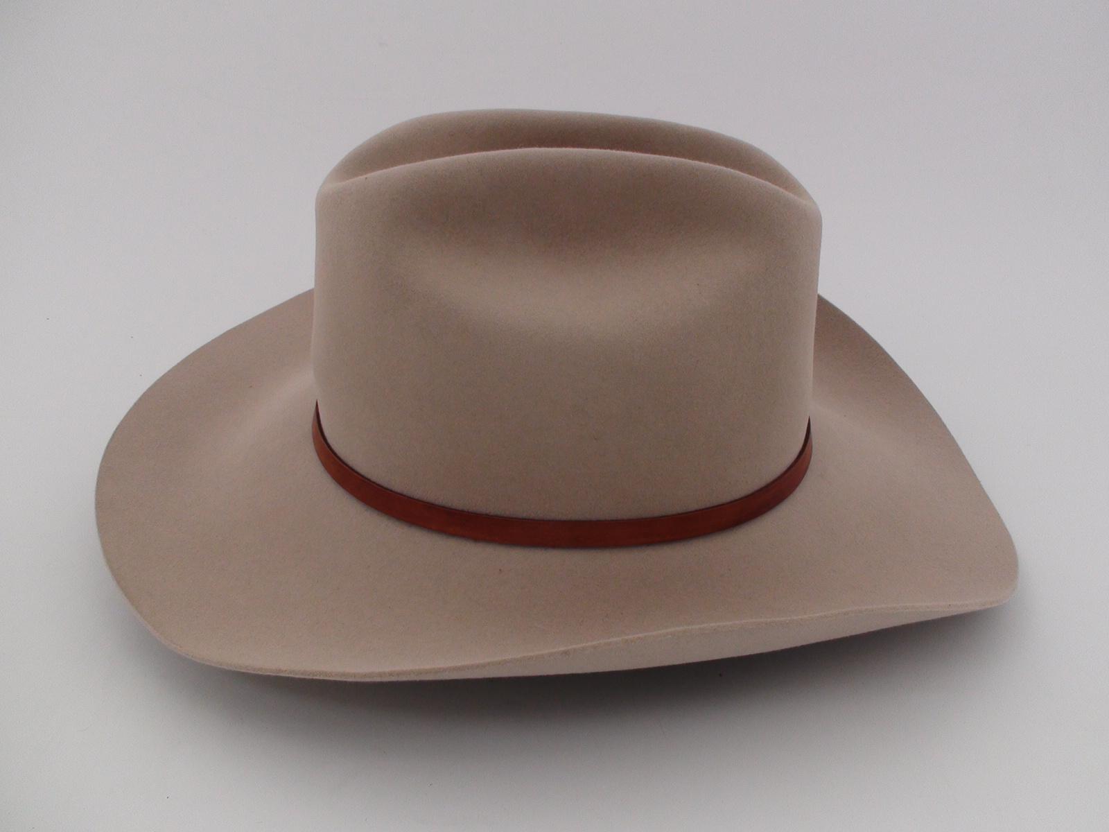 40964d59 Stetson Marshall 4X Beaver Silverbelly Fur Felt Cowboy Hat