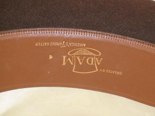 Vintage Adam Hats Pork Pie Brown Fur Felt Fedora Hat