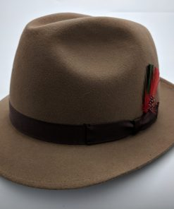 Vintage Stetson Imperial Light Brown Fur Felt Fedora Hat Size 7 1/8