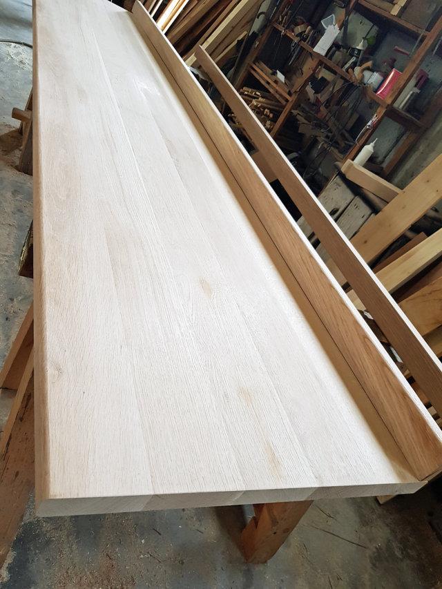 Piano cucina in legno massello di Rovere