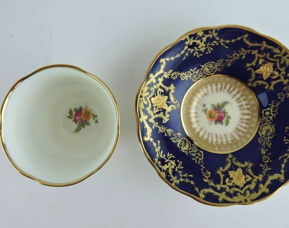 Set Of 8 Cups Amp Saucers By George Jones Amp Sons England Crescent China Bernardis Antiques