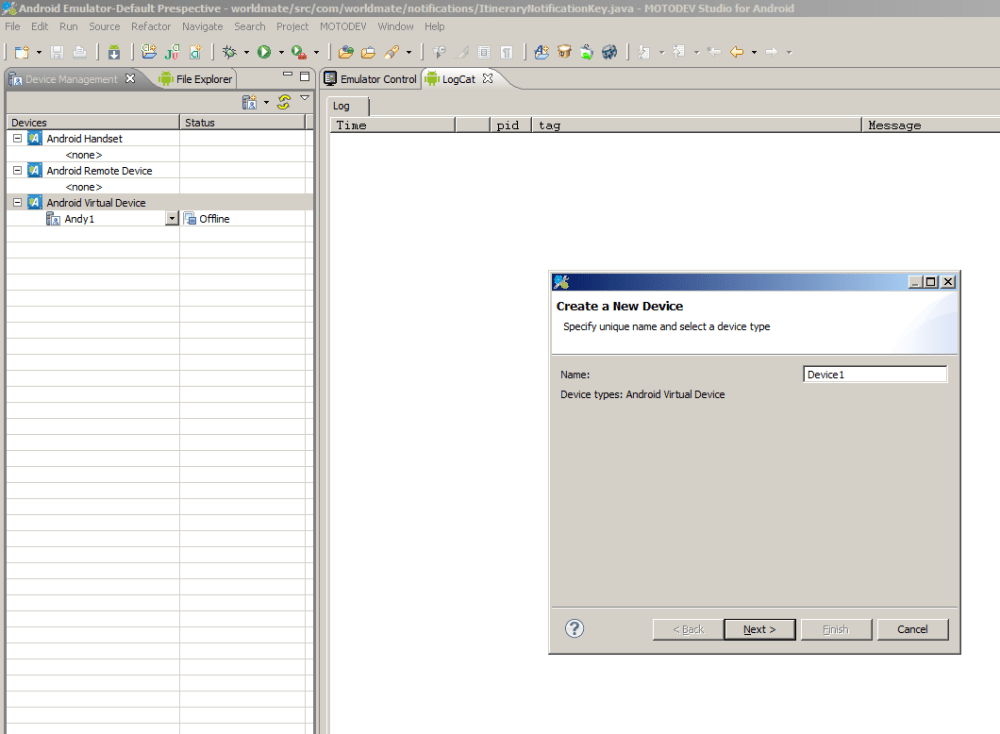 Debugging Android devices using MotoDev Studio Environment (3/6)