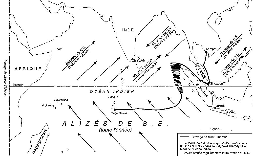 Voyage de Bernard Moitessier sur Marie-Thérèse 02 en 1952