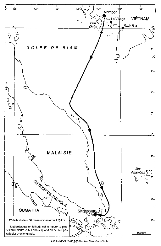 Voyage de Bernard Moitessier sur Marie-Therese 01 en 1952
