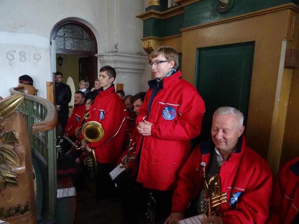 członkowie orkiestry dętej w Piotrkowie Tryb