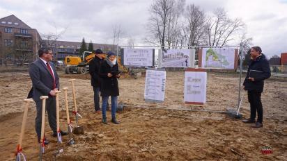 """Spatenstich für neue Kita """"Pankewichtel"""" am Schönfelder Weg in Bernau"""