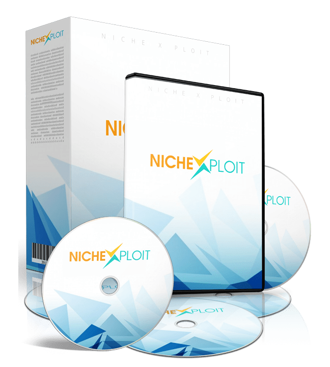 Mockup cover of Niche Ploit on a boxes and CDs
