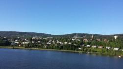 Lillehammer von der anderen Seite des Sees