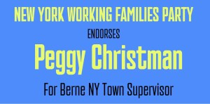 Working Families Endorses Peggy Christman for Town Supervisor