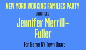 Jennifer Merrill-Fuller, Candidate for Town Board Endorsed by Working Families Party