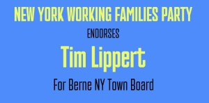 Tim Lippert, is endorsed by Working Families Party