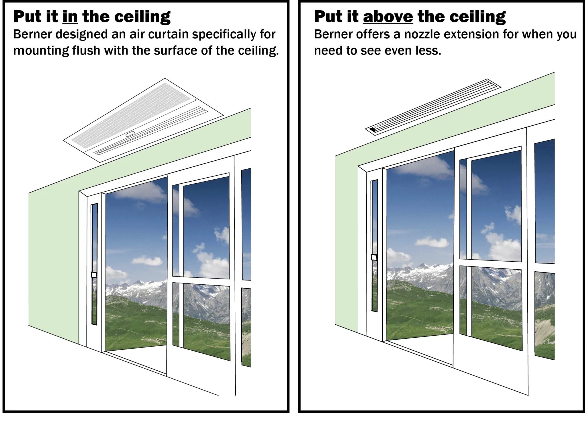 How To Hide An Air Curtain Berner Air Curtains