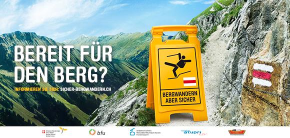 Sujet Kampagne Sicher Bergwandern