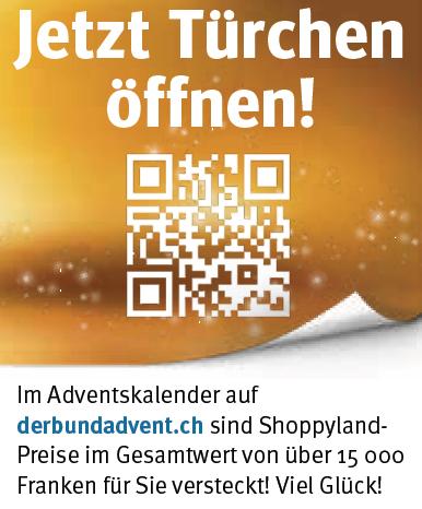 """Fussfeld klein Printinserat """"Der Bund"""""""