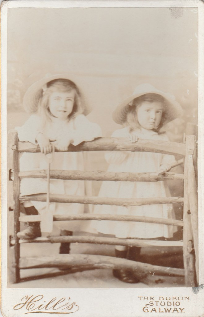 Noelle and Rosamund Ffrench of Bushy Park, circa 1903