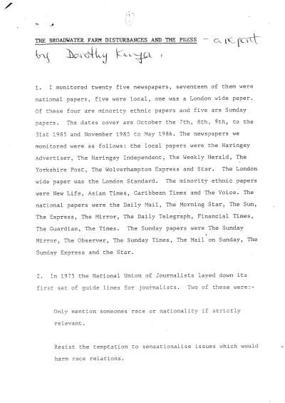 Dorothy Kuya Report