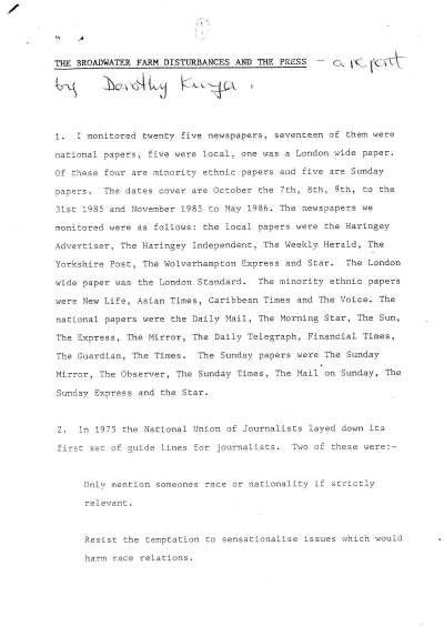 Dorothy Kuya Report Page 1