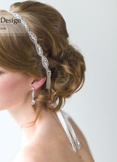 HA2 - Diamante Ribbon Hair Band