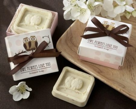 SSP1 - OWL ALWAYS LOVE YOU SCENTED SOAP FAVOUR