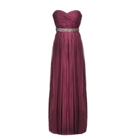 FEVE003 Forever New Dark Roseberry Monique Tulle Maxi Dress - 8 ways