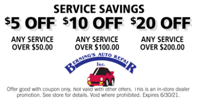 Service Savings Coupon