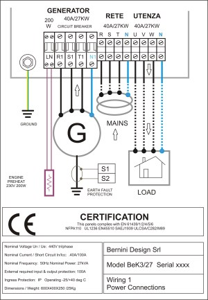 diesel generator control panel wiring diagram – genset