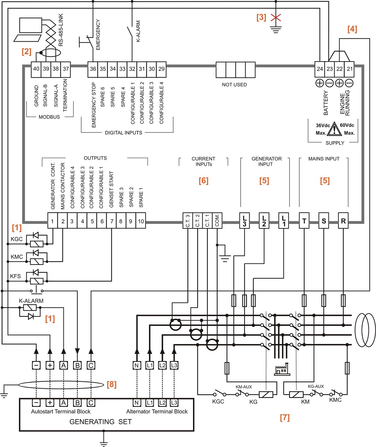 Automatic Changeover Switch Circuit Diagram Using