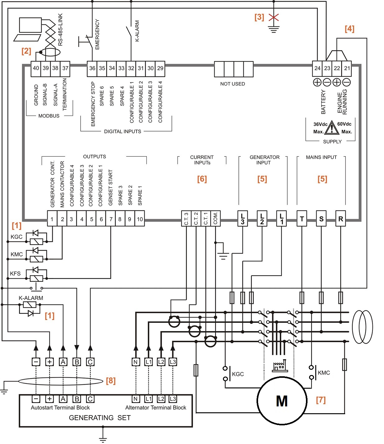 Generator Changeover Switch Wiring Diagram