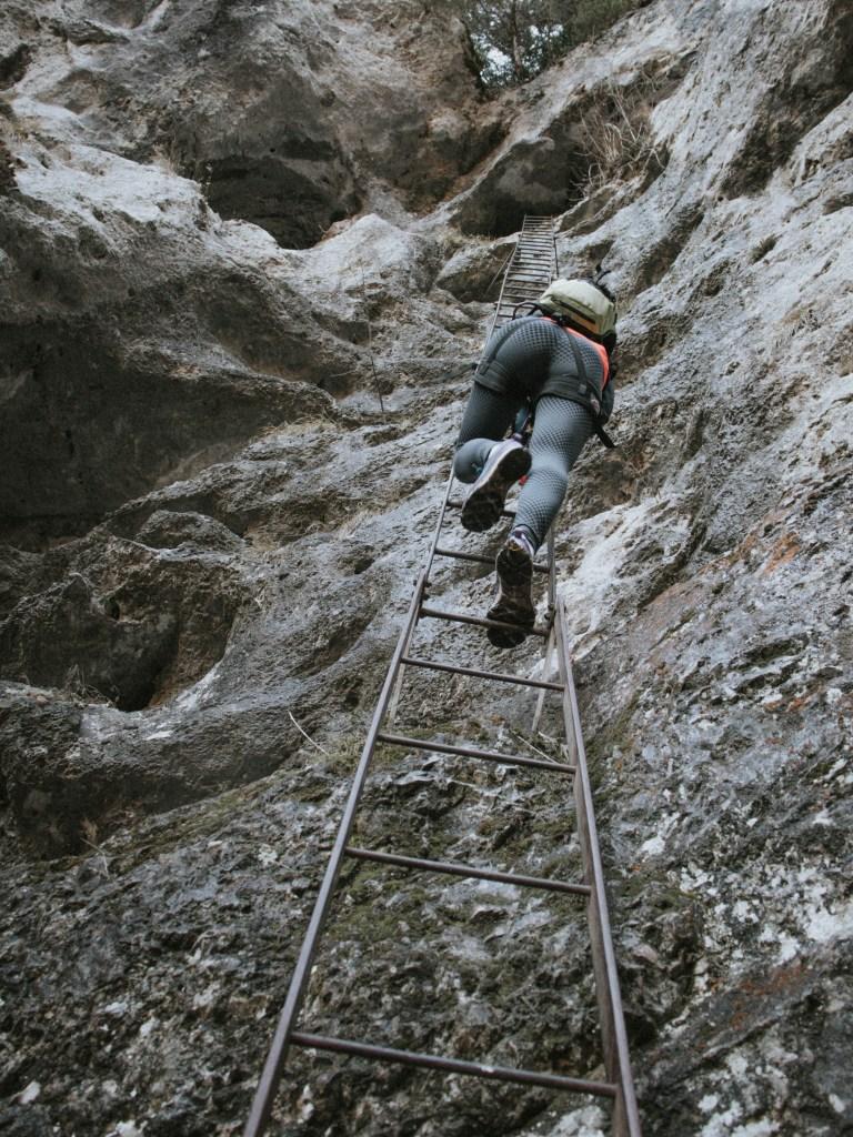 15 Meter Leiter am Rudolf-Decker-Steig