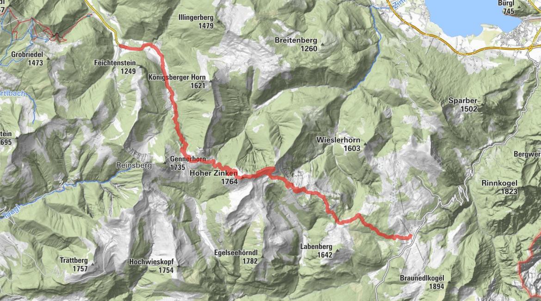 BergeSeen Trail; Hintersee - Postalm