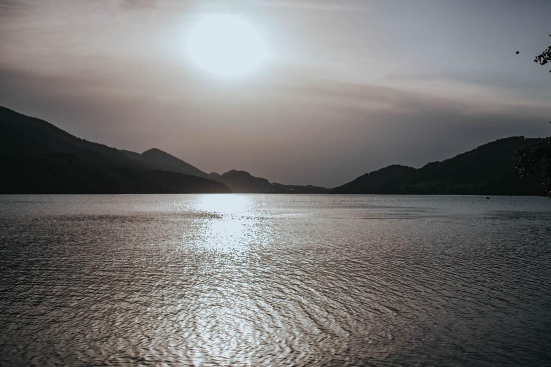 Diesiger Sonnenuntergang in Fuschl am See