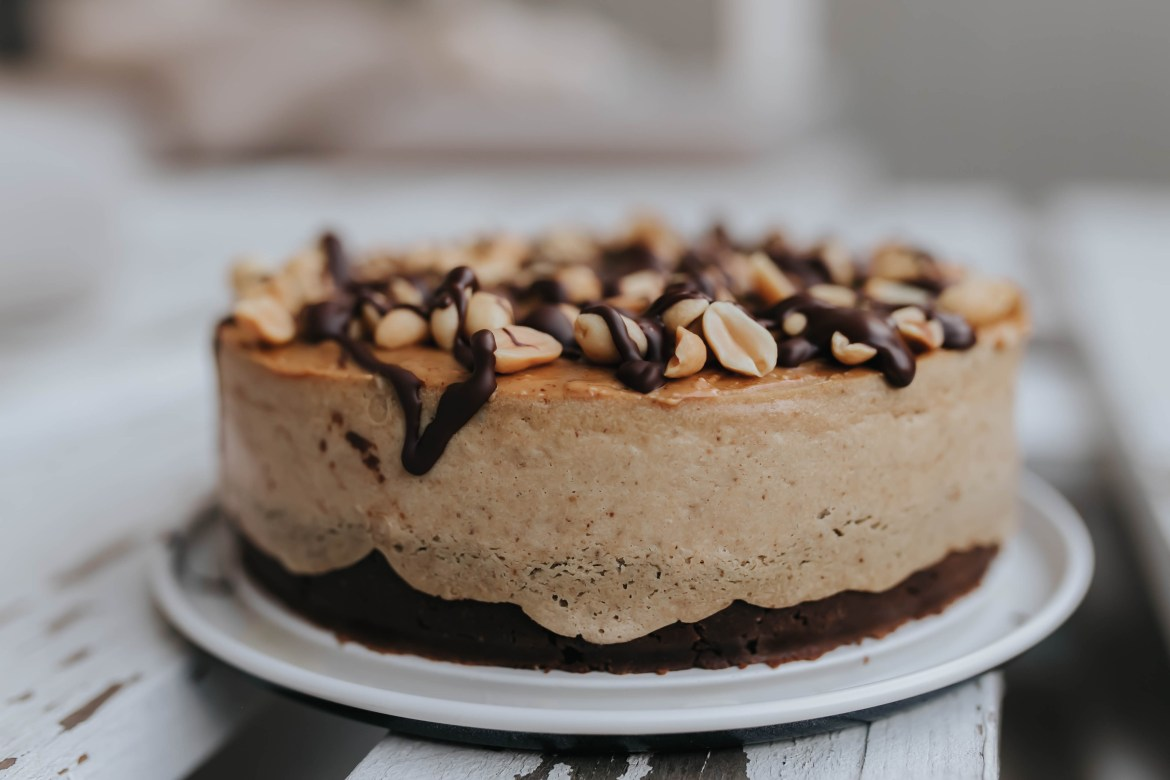 Vegan Peanut Butter Protein Cheesecake