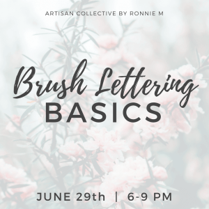Brush Lettering Basics @ be Rosie Salon   Claremont   California   United States