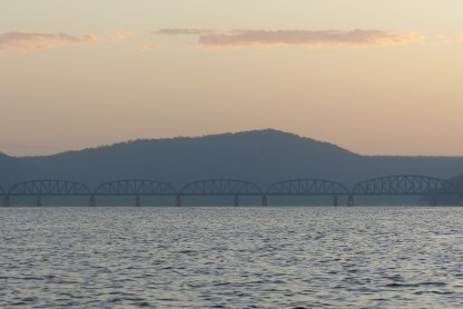 Hawkesbury River Bridge in dawn light